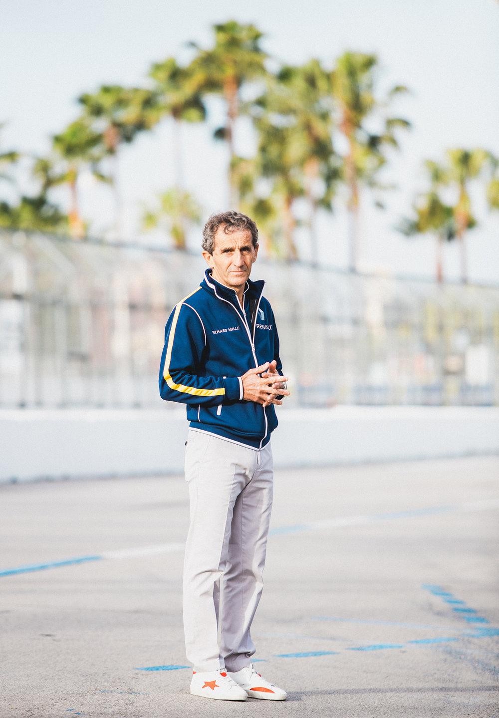 Alain Prost, eDams Renault 2015/16 FIA Formula E Championship, Long Beach, California, USA.