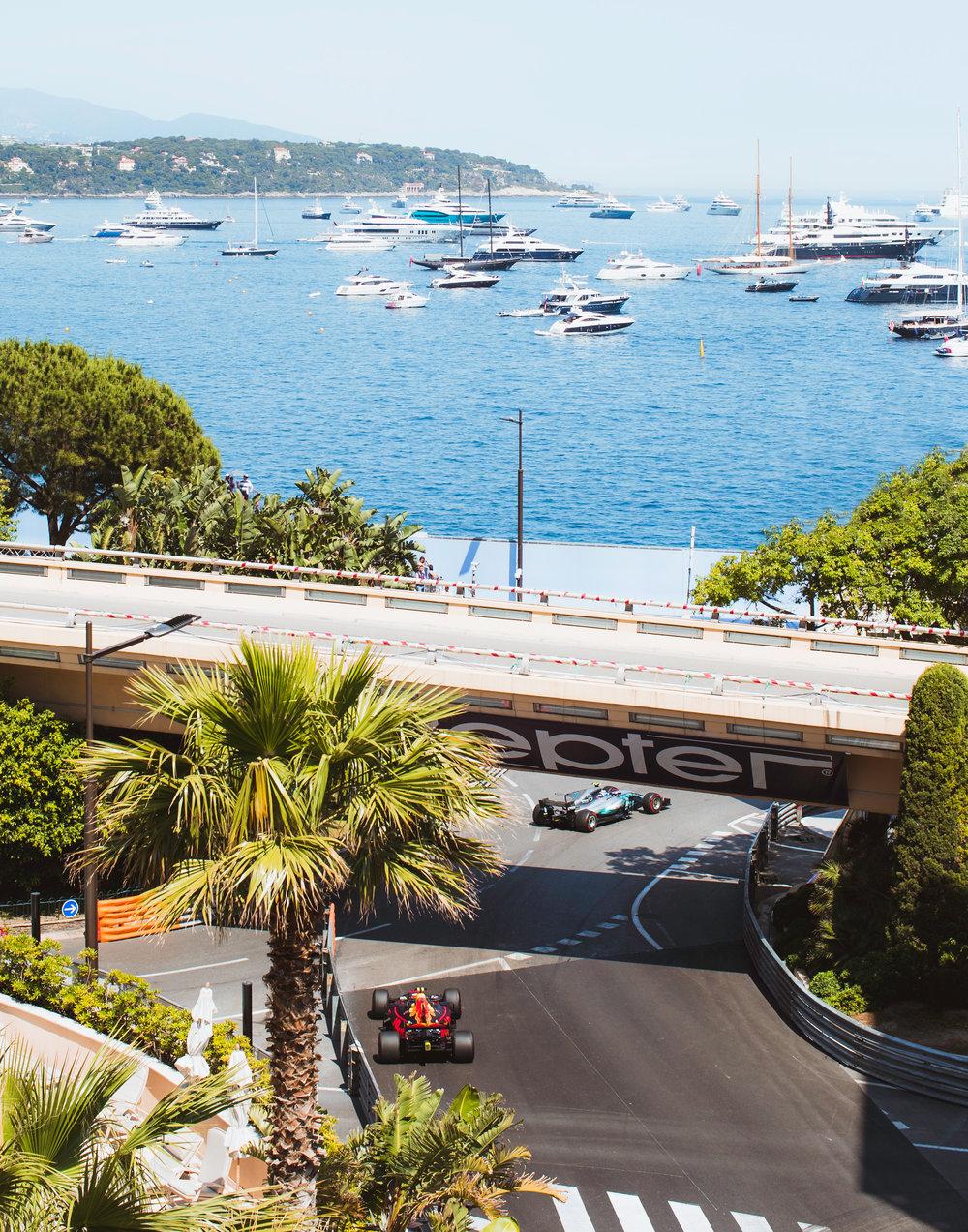 Valtteri Bottas, Mercedes, Max Verstappen, Red Bull. 2017 FIA Formula 1 Championship, Monte Carlo, Monaco.
