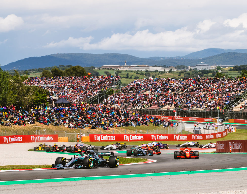 Lewis Hamilton, Mercedes. 2018 FIA Formula 1 Championship, Barcelona, Spain.