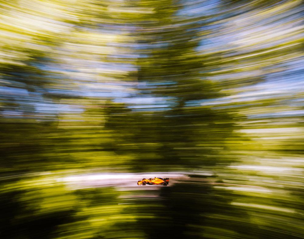 Fernando Alonso, McLaren. 2018 FIA Formula 1 Championship, Montreal, Canada.