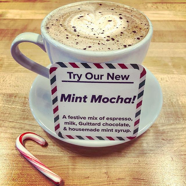 Escape from the rain and warm up with our new Mint Mocha!☕️