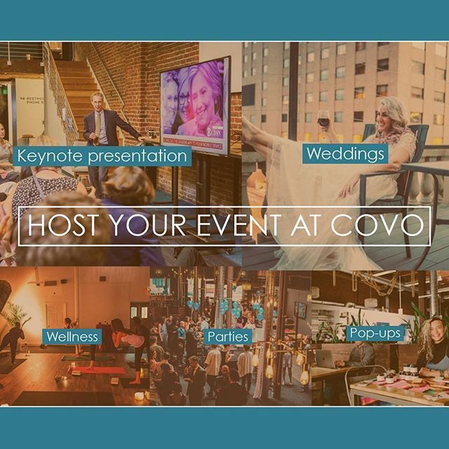 Events at Covo is where it's at! Each Covo location boasts a premier event space fully equipped with dedicated sound systems, on-premises A/V equipment, convenient catering options, and an onsite bar. Learn more about each Covo event venue here: https://www.hellocovo.com/events 👏🏼