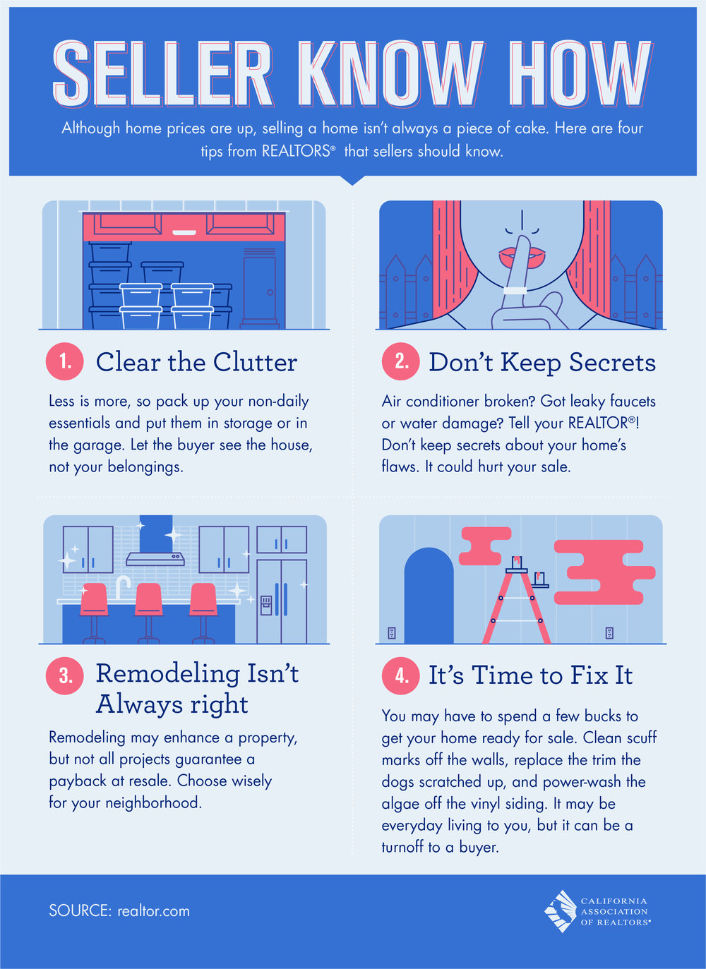Seller Know How: 4 Tips For Selling Your Home [infographic] — Liz on home security tips, home design tips, home business tips, home packing tips, home inspection tips,