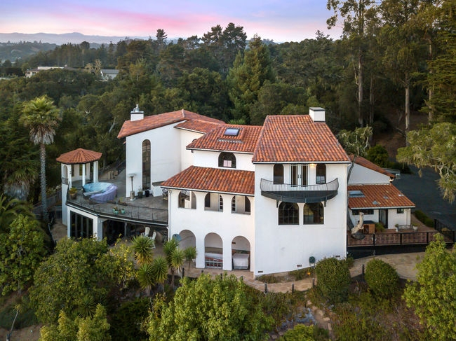 230 San Andreas Lane - La Selva Beach, California • Asking $2,595,0004 Beds • 5.5 Baths • 3800 Sqft • Caretakers UnitThis Santa Barbara Spanish-Style estate sits on a ridge on over one acre in La Selva Beach above the Seascape Resort area. The home offers expansive ocean views from nearly every room and is surrounded by gardens, fountains, fruit trees and redwoods. The details in the finishings and materials lend a palpable old world ambiance that is open and airy, sophisticated but fun, and designed for entertaining and living large.