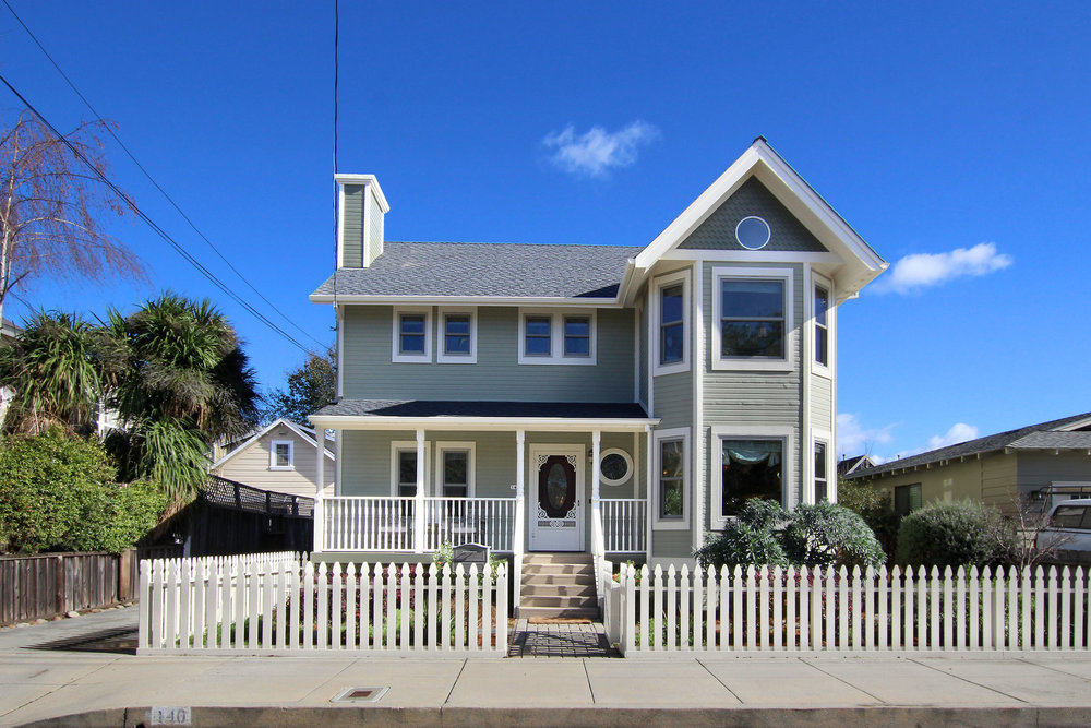 140 Myrtle St. - Santa Cruz, California • Asking $1,325,0003 Beds • 2.5 Baths • 2058 SqftNeo-Victorian home, with traditional charm. Recently updated and impeccably maintained. Abundant windows fill the home with light. Hickory hardwood floors. Formal dining room and an amenity-filled Chef's Kitchen. Featuring a Sub-Zero fridge/freezer, 2 additional fridge drawers, full-size wine fridge, Bertazzoni gas range, pot filler, pantry, and Caesarstone counter tops. Bonus room off spacious Master Suite.. The Master Bath has a deep soaking tub, dual vanities, and marble counter. Owned solar system on detached two-car garage.