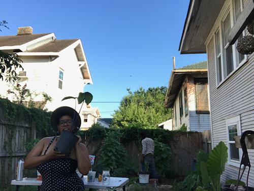 Us in the backyard.