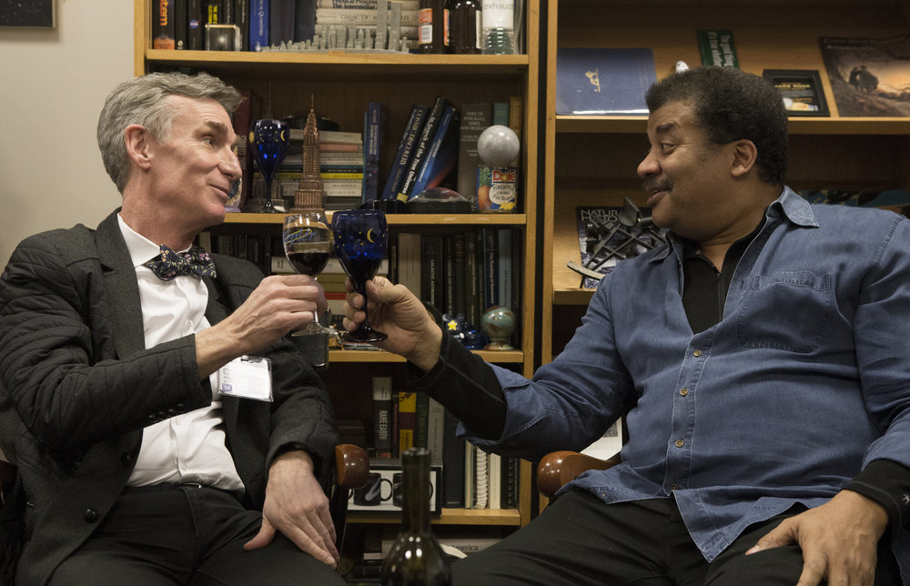 #2 - Bill Nye and Neil deGrasse Tyson in BILL NYE SCIENCE GUY, a PBS Distribution release. Photo courtesy of Erika Kapin/Structure Films