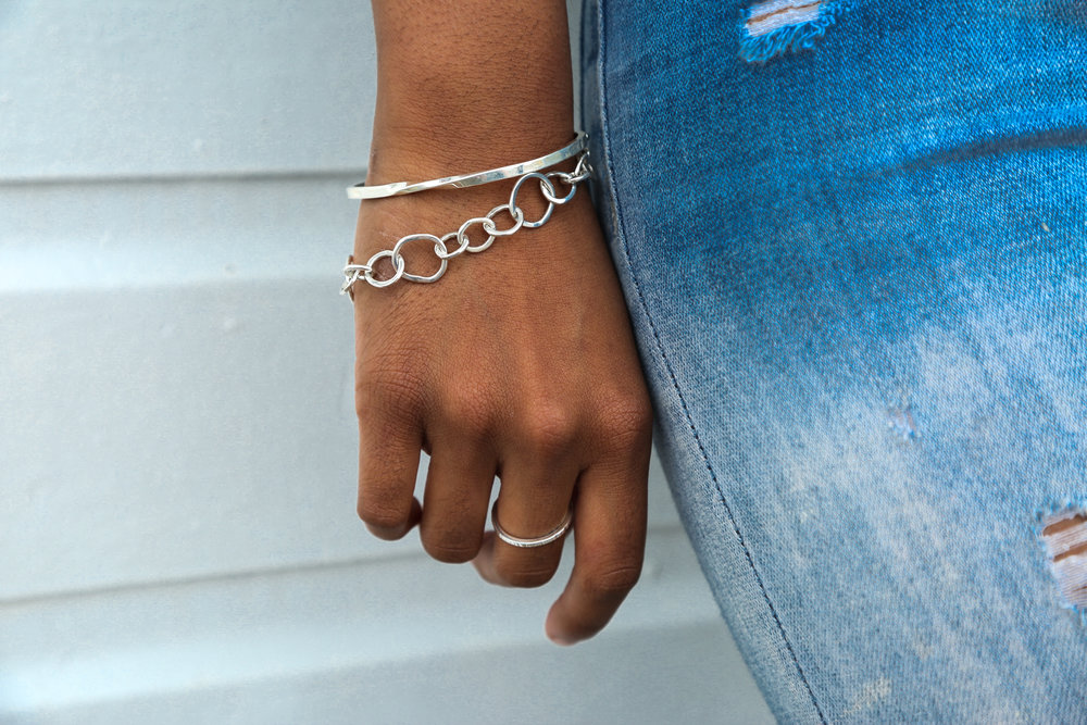 Hammered Stacking Ring, Link Bracelet, Twist Cuff .jpg