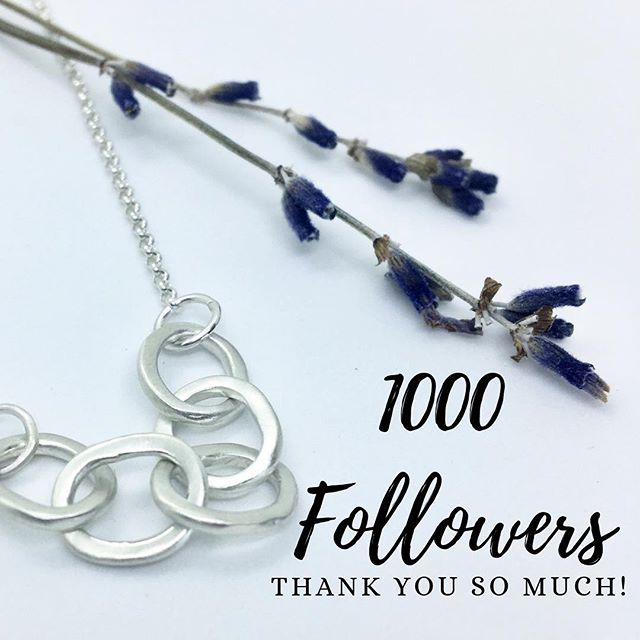 A huge thank to all of our friends, family, clients and supporters 💞 . . . . #adelaisjewellery #artisanjewellery #supportsmallbusiness #mompreneur #femaleentrepreneur #locallove #1000followers #thankyou #sograteful #goodthingstocome #sterlingsilverjewelry #sterlingsilverjewellery #madewithlove