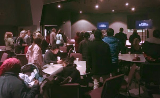 A shot from a recent preview gathering at Anchor Church.