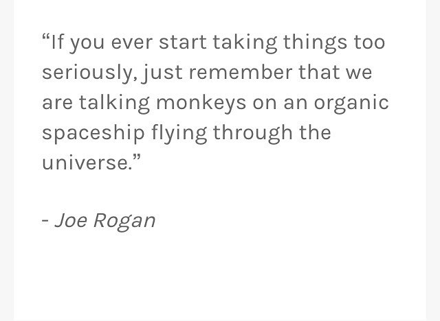 Food for thought from the intelligent funny man @joerogan