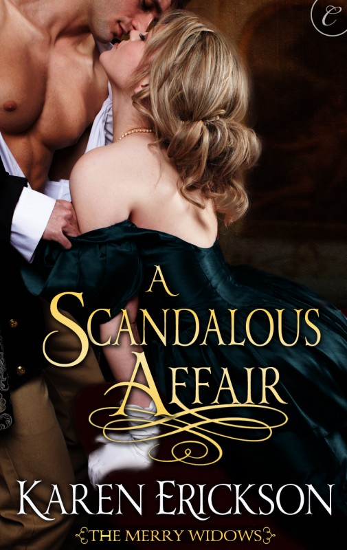 "A Scandalous Affair - The Merry Widows, Book 3AMAZON • B&N • IBOOKS • KOBO • BAM • GOOGLePLAYFrom the moment Daphne, Lady Pomeroy, meets the mysterious Marquess of Hartwell at a masquerade ball, she's determined to seduce him. The handsome, charming man cannot possibly be the cold, calculating lord who Society calls ""Black Hart."" Risking everything, the lonely widow invites the elusive Hartwell to her dinner party . . . for two. Hartwell's arrogant reputation is built on a lie. For he has a shameful secret that keeps him in the shadows: a stutter—his downfall since childhood. He'd rather keep his mouth shut than look the fool. But he's shocked to discover that in Daphne's company—and in her bed—his stutter vanishes. After one wanton evening together, Daphne is hurt when the lord lives up to his Black Hart name. Yet his reasons for leaving surprise even him. Now he must confess everything or risk losing Daphne forever…AMAZON • B&N • IBOOKS • KOBO • BAM • GOOGLePLAY"