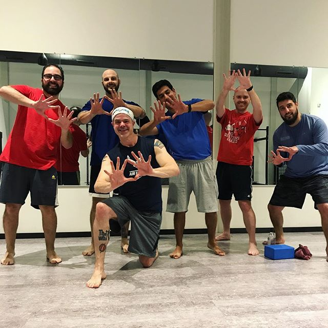 WEDNESDAY NIGHTS= BOY'S DDPYOGA NIGHT! These guys are starting 2019 STRONG! It's always a GRAND time with @dave.orth! JOIN US! Wed @ 7:45p and Sat @ 8:45a! 💪🏼🔥