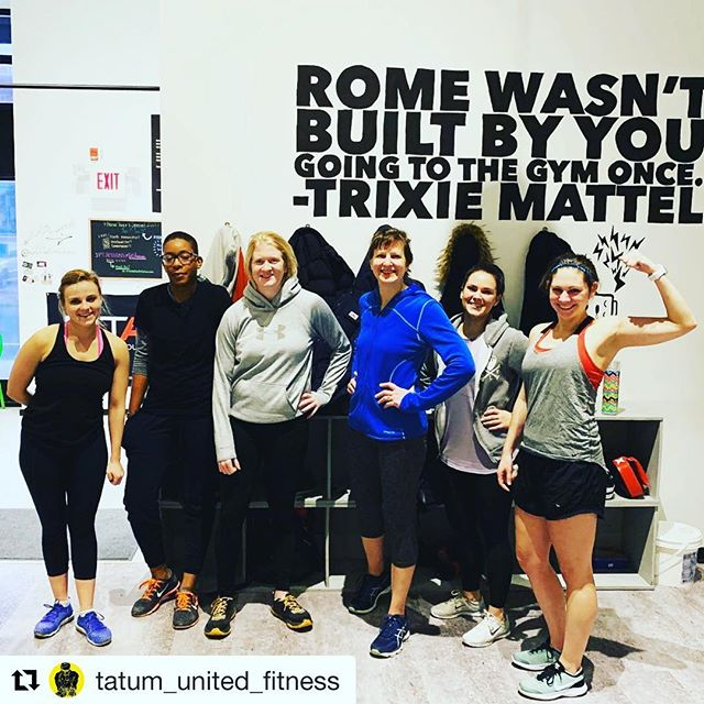 #Repost @tatum_united_fitness with @get_repost ・・・ Go, go, gadget girls!!! Post circuit training @revolutionfitfactory 👏🏽👏🏽👏🏽🏋🏼♂️🥇🏆 #fit #fitness #exercise #workout #inspiration #motivation #beastmode #bodybuilding #training #time2train #rffphilly #gym #gymlife #muscle #noexcuses @phillyjules