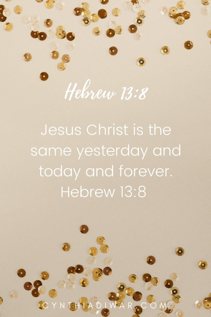 Hebrew 13:8