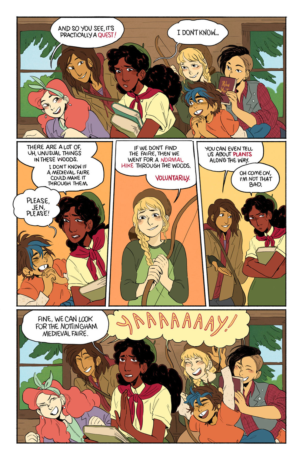 from  Faire & Square , 2017 Lumberjanes Summer Special issue, written by Holly Black