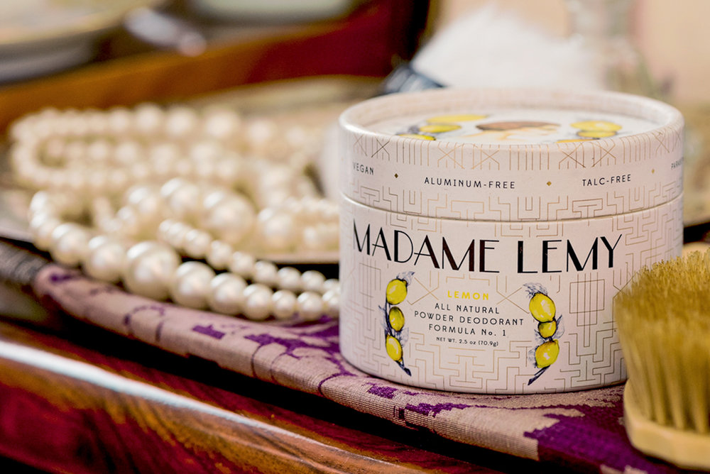 Welcome to Madame Lemy - All-natural, vegan, cruelty-free powder deodorants.Grown on a tree, not made in a lab.™