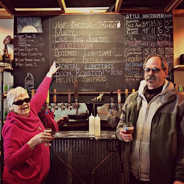 We got our Granny in here to try the Johnny Briggs Irish Red!  We named this beer after her father, she said he would approve!
