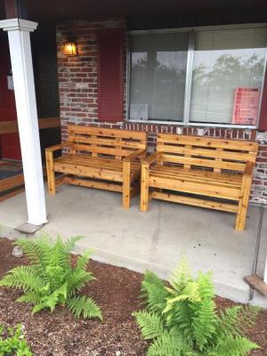 New benches on the porch.jpg