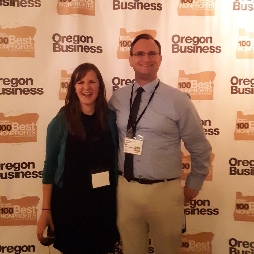 Brian and Bridget at the 100 Best Oregon Non Profits October 2018.jpg