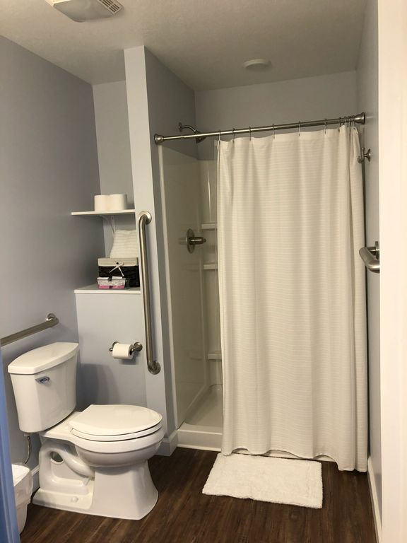 1st floor fully handicap accessible bathroom