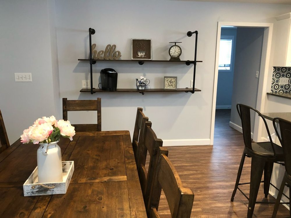Coffee bar with Keurig Coffee maker
