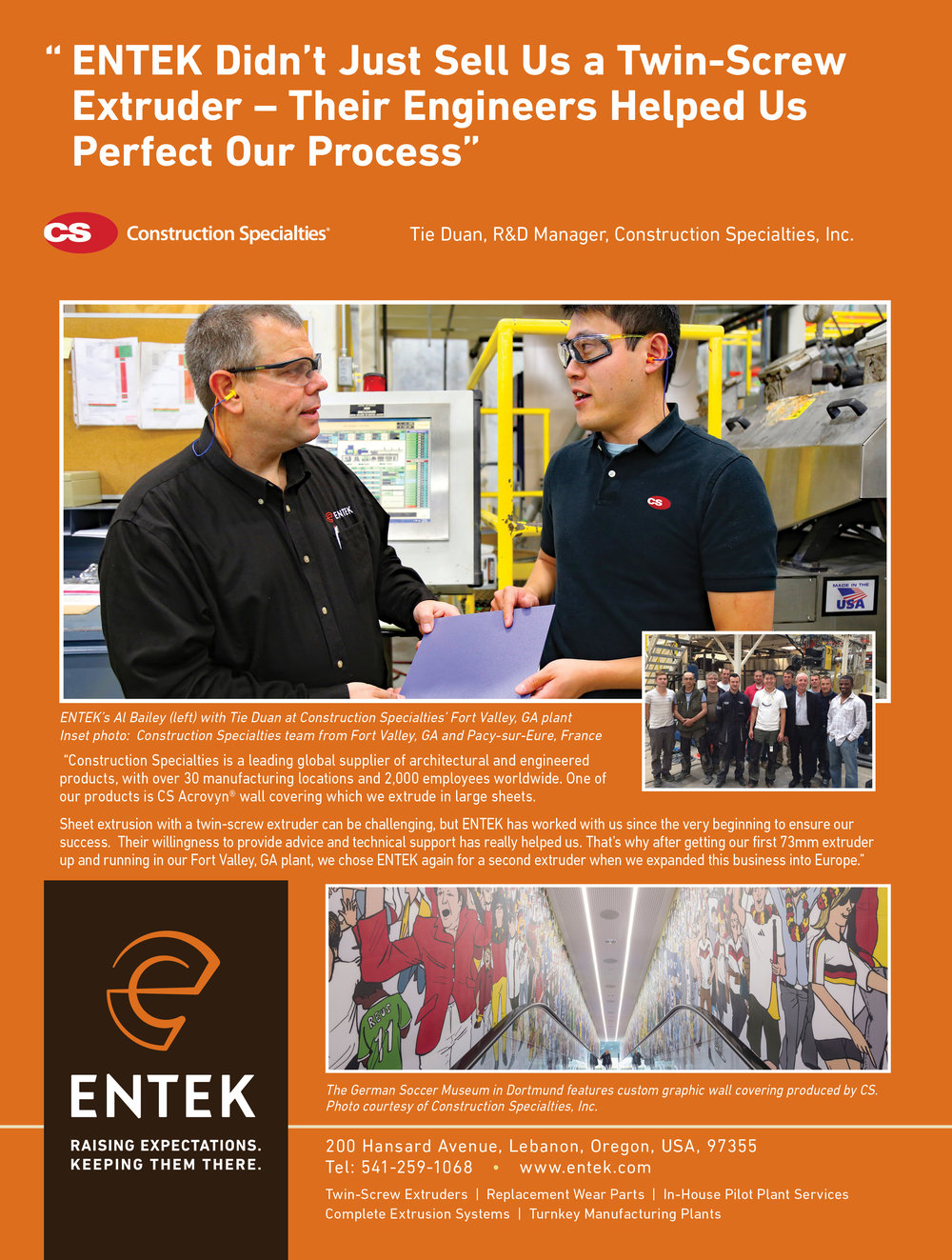 ENTEK PRINT ADVERTISEMENT IN  COMPOUNDING WORLD