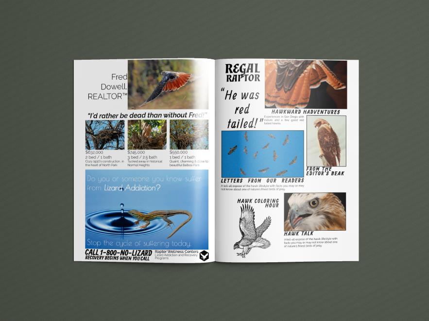 Pages 1 & 2,  Regal Raptor