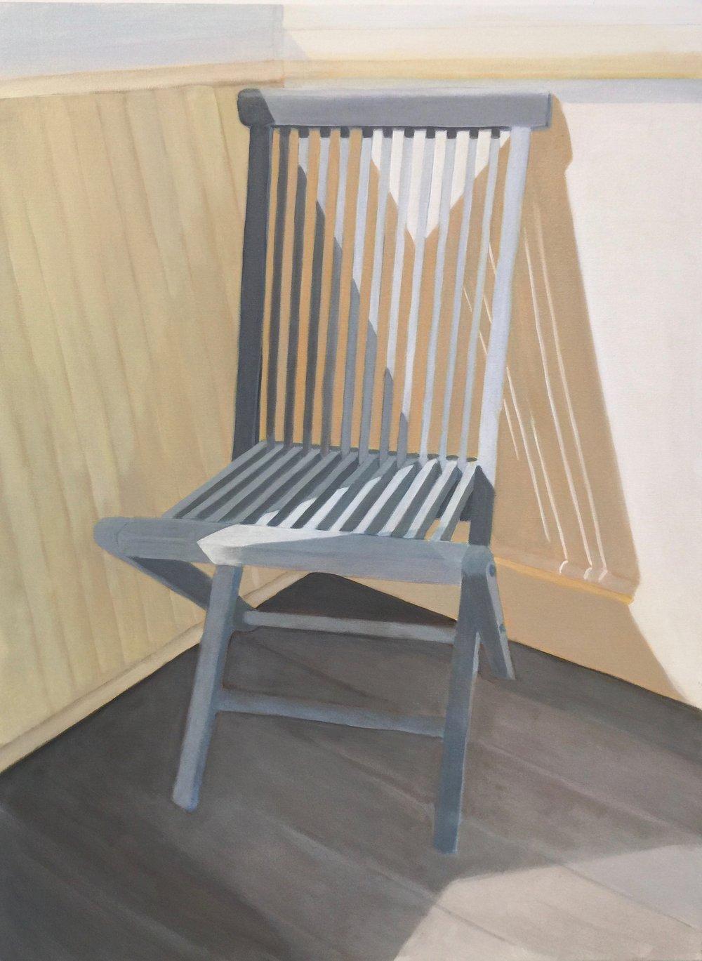 Seamist Chair, 30 x 40, acrylic