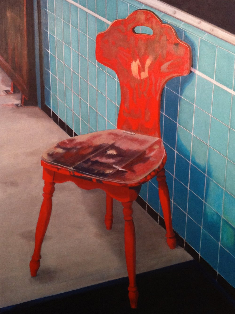 Chinatown Chair, 30 x 24, acrylic