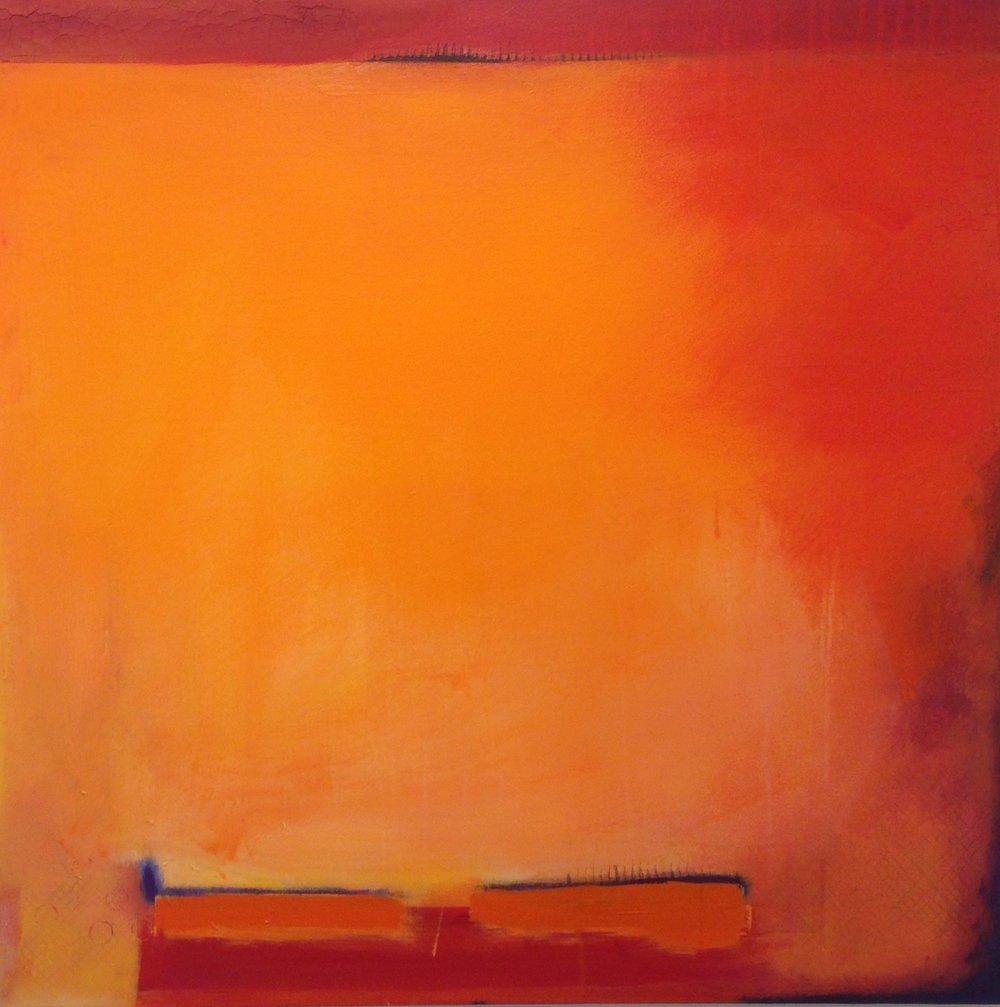 Wildfire, 36 x 36, acrylic
