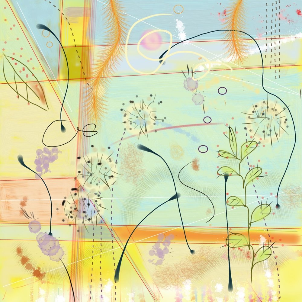 Wanton Weeds, 12 x 12, giclée