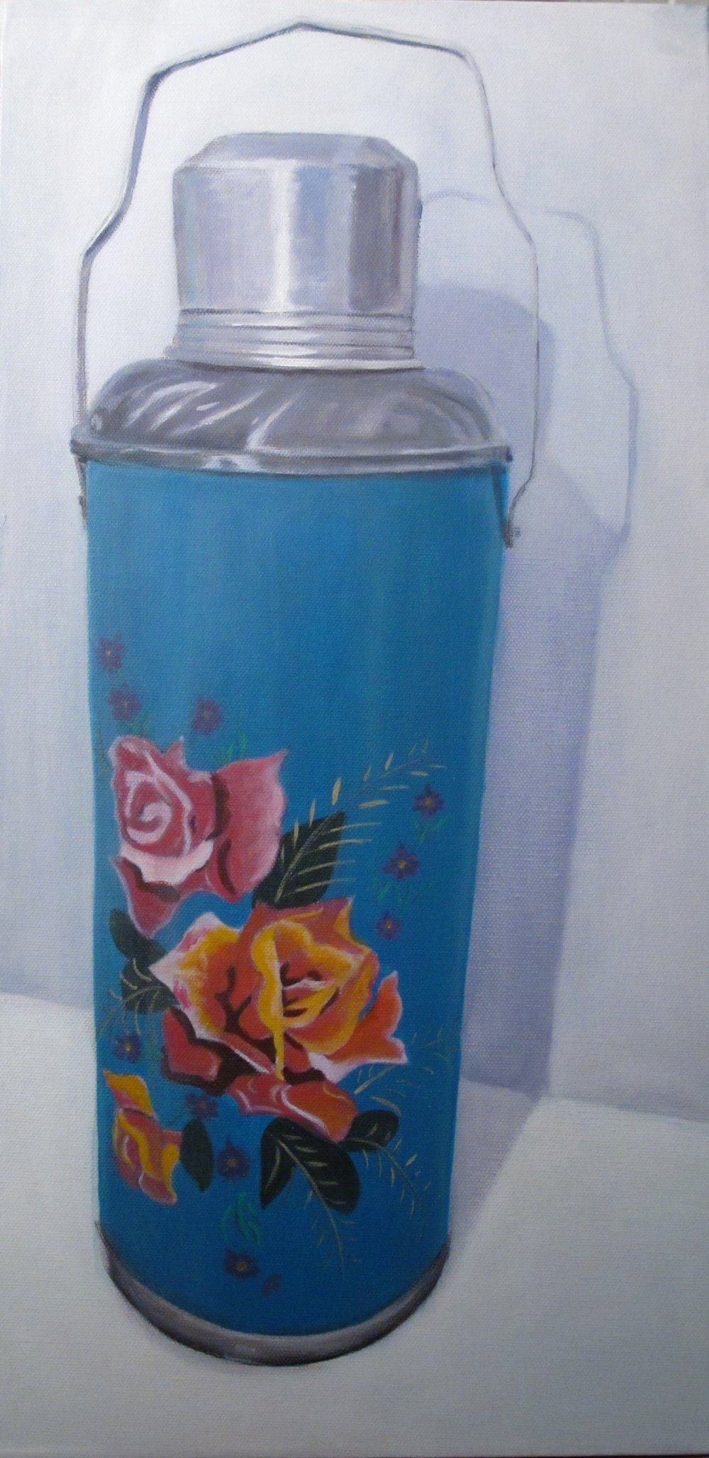 Turquoise Thermos, 12 x 18, acrylic