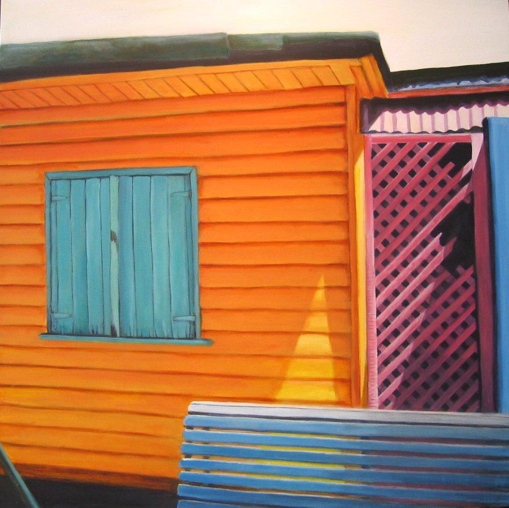 La Boca, 36 X 36, acrylic on linen