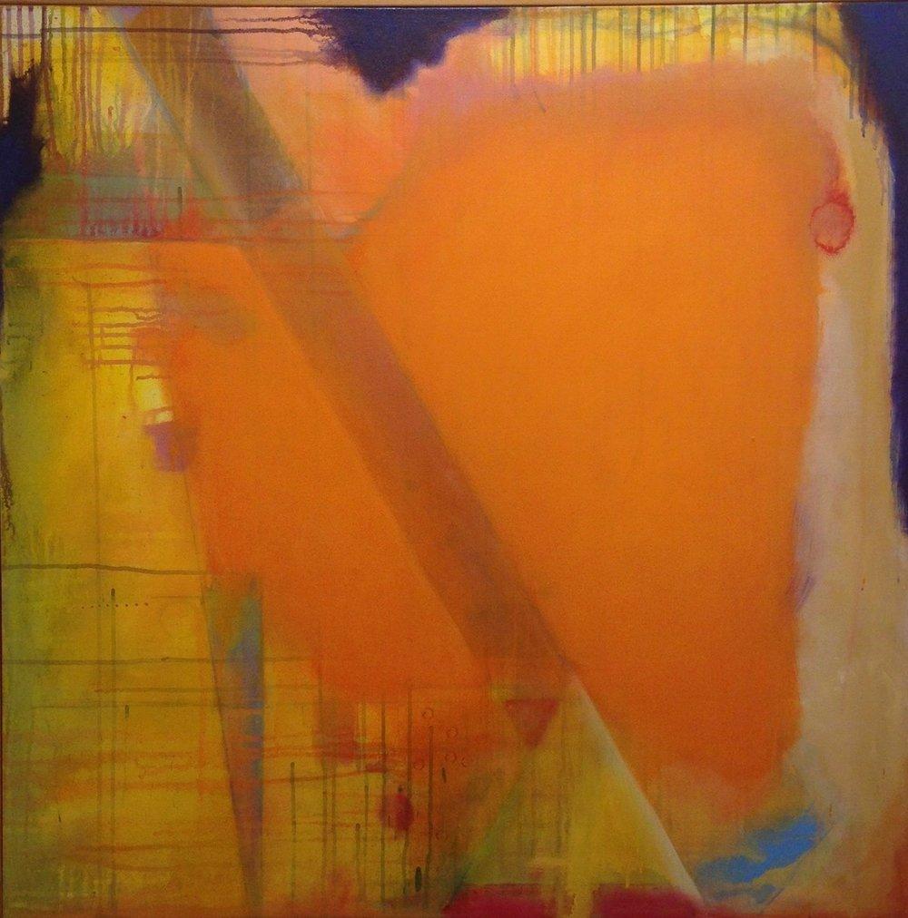orangeland, 36 x 36, acrylic