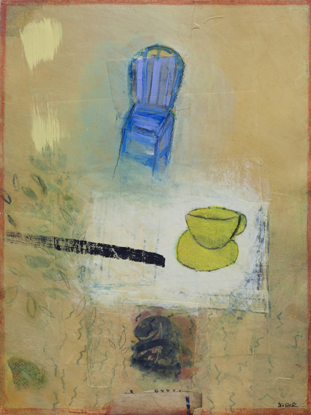 Blue Chair, 2017, 12 x 16, paper