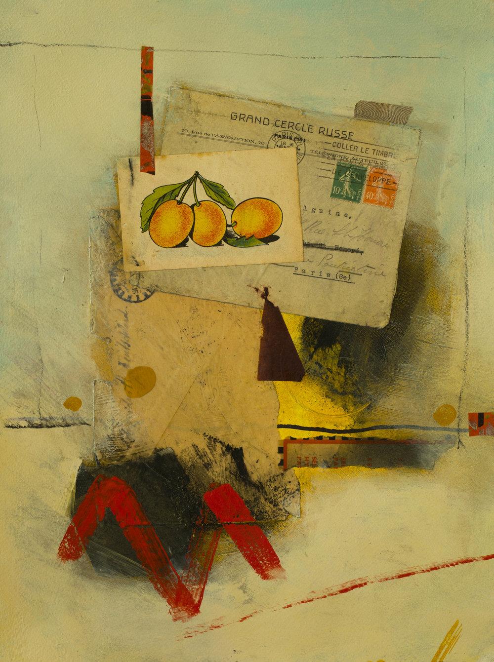 Italian Oranges, 2017, 12 x 16, paper
