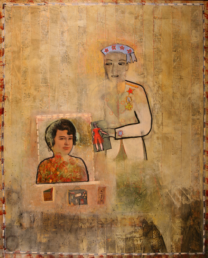 The General and His Muse, 2007, 48 x 60
