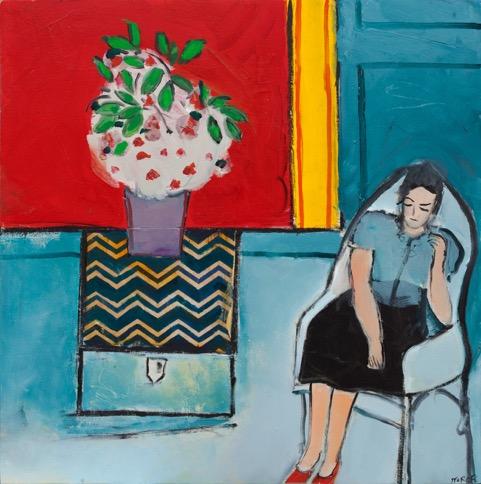 Blue Woman, 20 x 20