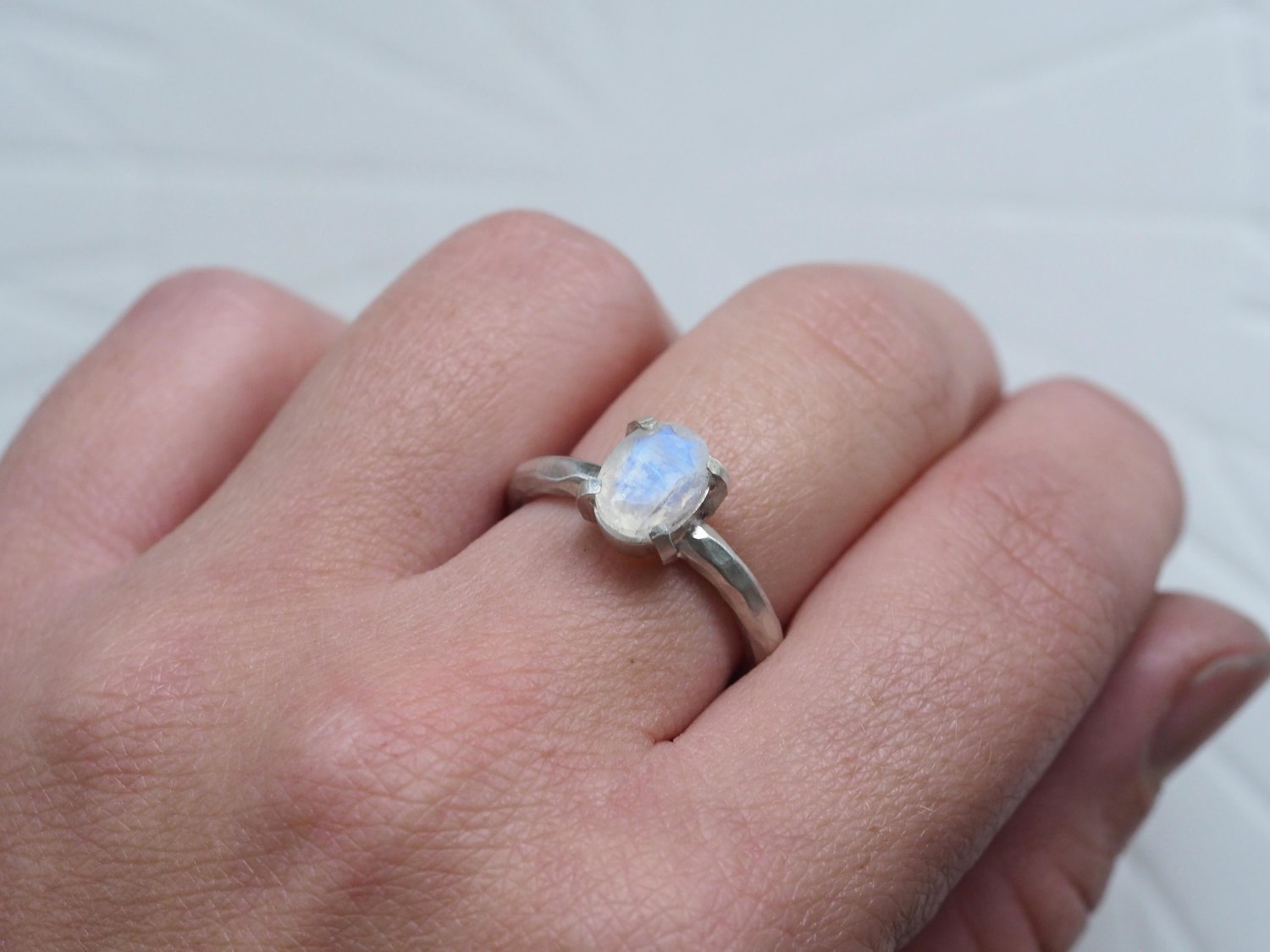 Faceted Moonstone Claw Ring — HANNAH BATSTONE // CONTEMPORARY JEWELLERY