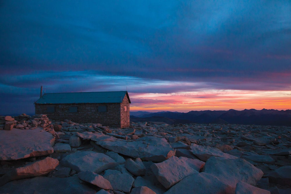 Sunset atop 14,505 ft. Mt. Whitney