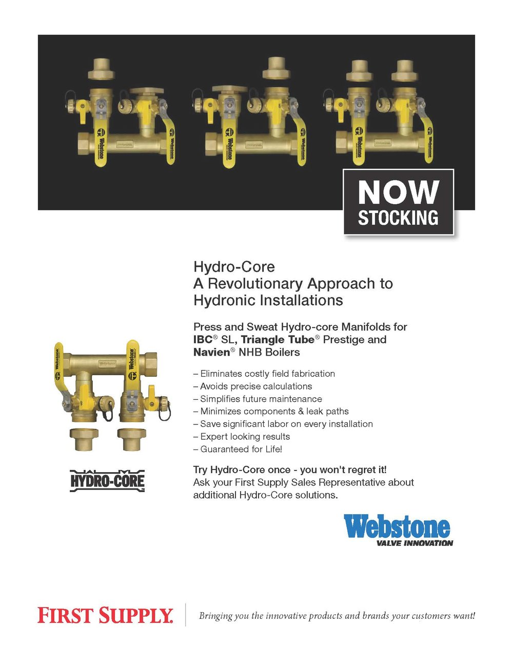 Webstone - Press and Sweat Hydro-Core Boiler Manifolds