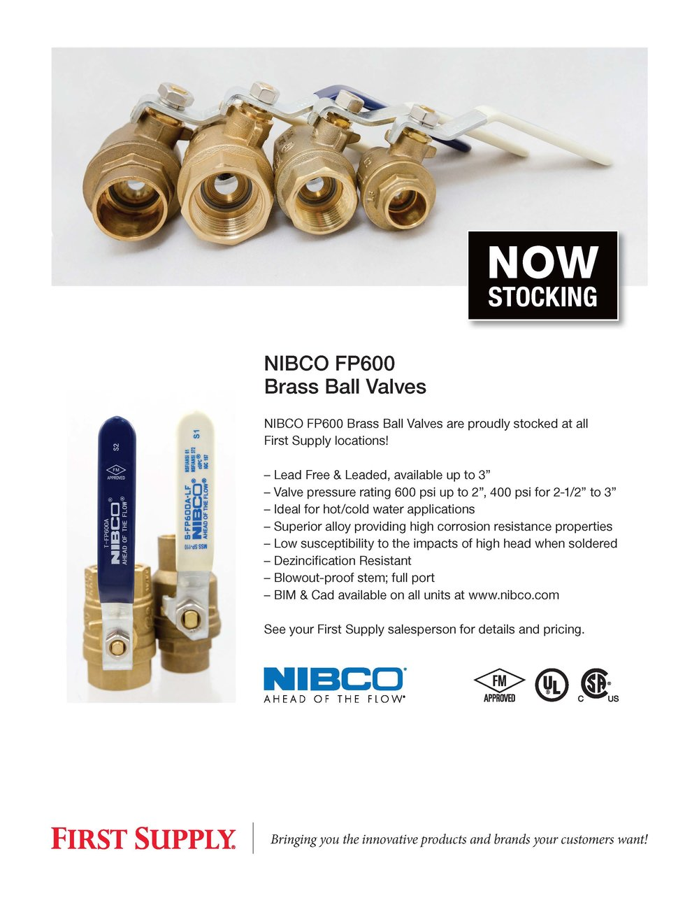 NIBCO - P600 Brass Ball Valves