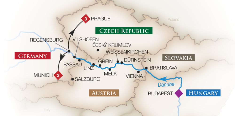 Budapest to Munich