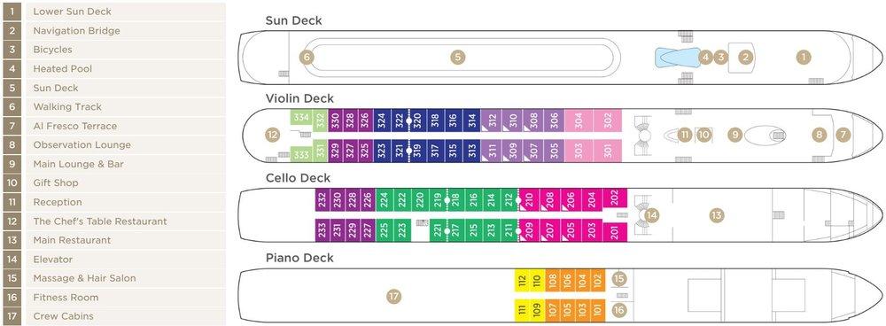 AmaLea Deck Plan