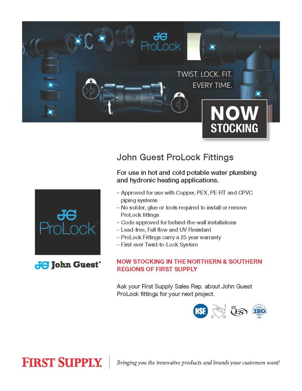 John Guest - ProLock Fittings