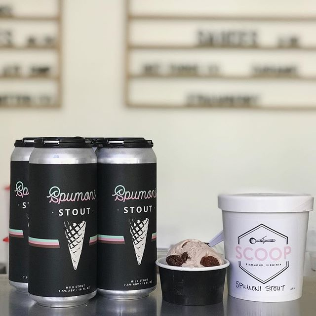 Only a few pints of our collaboration ice cream with @scoop.rva left at Scoop and in our taproom! Grab them this week while they last! ⠀⠀⠀⠀⠀⠀⠀⠀⠀ 🍦 This ice cream was made with our Spumoni Stout, then the stout was reduced into a chocolate sauce 🍫 and drizzled into the layers of the ice cream. 🍒 Lastly, it was studded with tart cherries soaked in our stout for that perfect fruit flavor of Spumoni.🍻 ⠀⠀⠀⠀⠀⠀⠀⠀⠀ #fandistrictrva #spumoni #stout #icecream #scooprva #collaboration #rvabeer #rvaeats