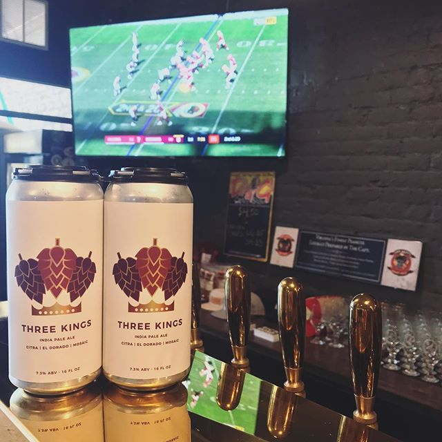 Sundays are for relaxing, so come in for a beer and watch the games, or grab some to take home with you to watch! #rvabeer #threekings #fandistrictrva #sunday