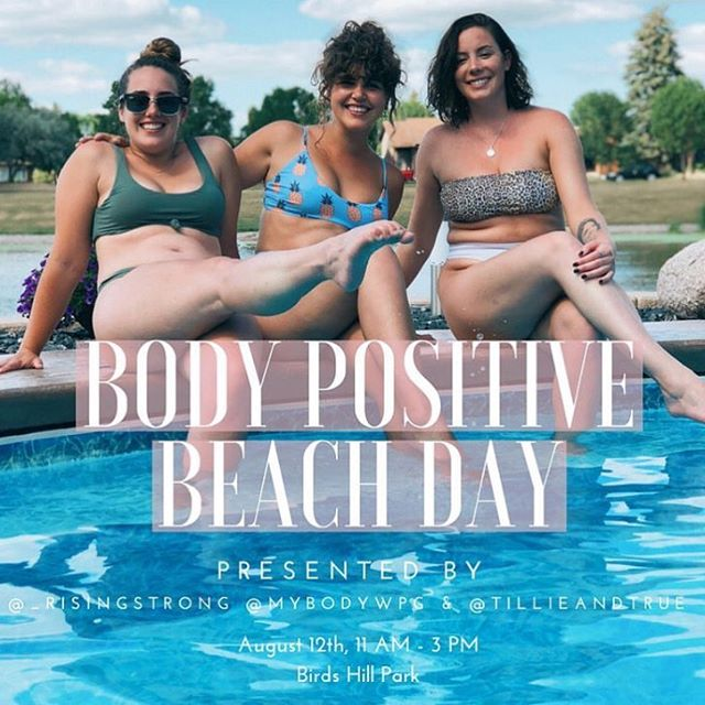 Ummmm a body positive beach day where all are welcome, fun activities are happening, and you get to strut your stuff down a catwalk and get your picture taken? AND it's free??? Yes please 🙌🏾 Obvs I'm gonna be there, and you should come too 😎 Head to the bios of @_risingstrong @mybodywpg or @tillieandtrue (some lovely @hustleandcharmcommunity ladies 🤗) to signup for this free beach day 🏖