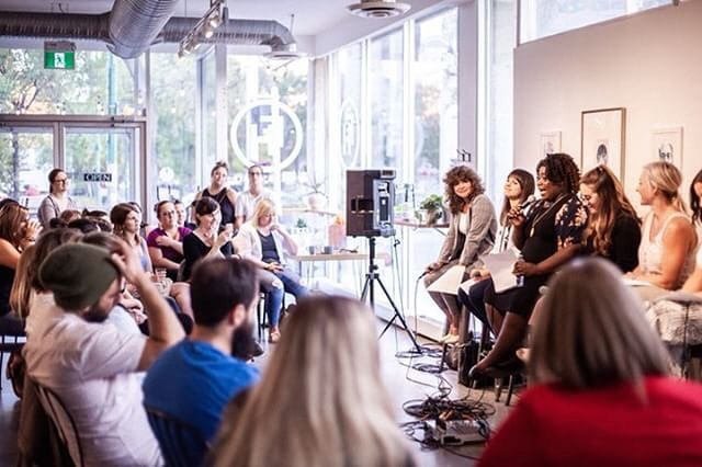 When you're so damn busy it's takes you a week and a half to reflect on a super awesome event you feel fortunate to have been a part of 🤦🏾♀️ Near the end of August I sat next to 5 fierce women in front of an audience of fierce people at @fhcoffee_. We each shared our stories about what body positivity means to us and how we got to and are still getting to a place where we're comfortable in the skin we're in.  To me, body positivity is appreciating your body in whatever form it's in, loving yourself unconditionally, not letting your exterior dictate your self worth, and stopping people in their tracks when their ignorance and narrow views drive them to degrade and devalue who you are because how you look doesn't measure up to THEIR standards.  This panel was formed out of the need for more open and honest conversations about body acceptance and how we can make changes for the better, right here in Winnipeg!  This was our first panel event and we're looking forward to doing more events and other initiative in the future. Stay tuned, folks ✌🏾 📷 @car._ssa